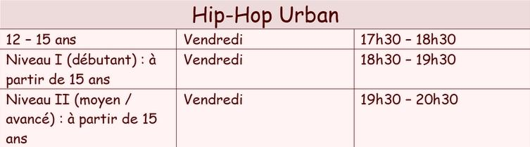 Hip hop urban