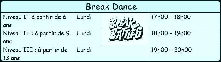 Horaire break2