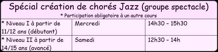 Horaire special chore 2