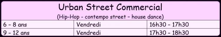 Horaire urban street 1